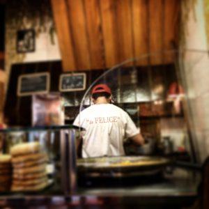 Pizzeria da Felice, Mangiare a manovella, Lucca, 2