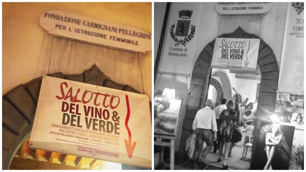 salotto del vino e del verde, montecarlo, festa del vino, mangiare a manovella, casta d'uva, salumificio d'antraccoli, fattoria montichiari, carmignani enzo