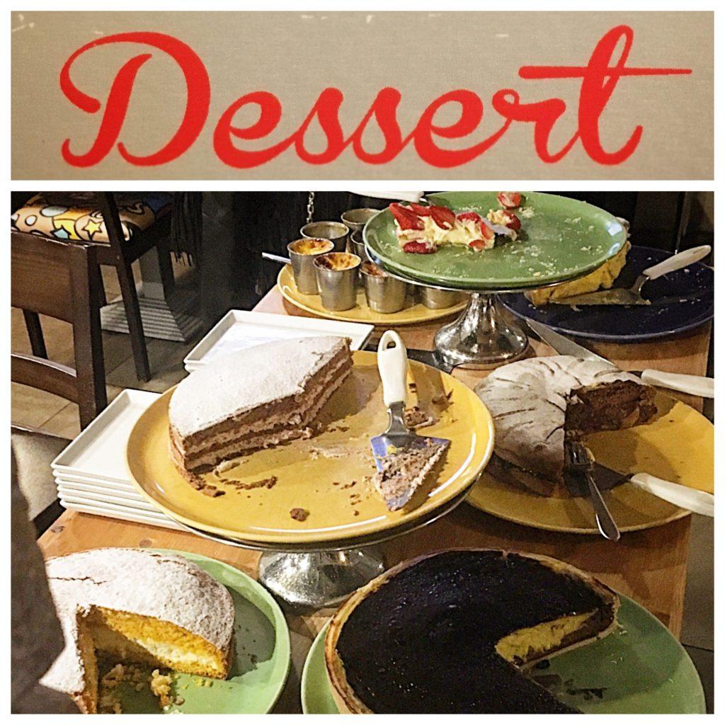 Ristorante Egisto, Montecatini, Mangiare a manovella, dolci
