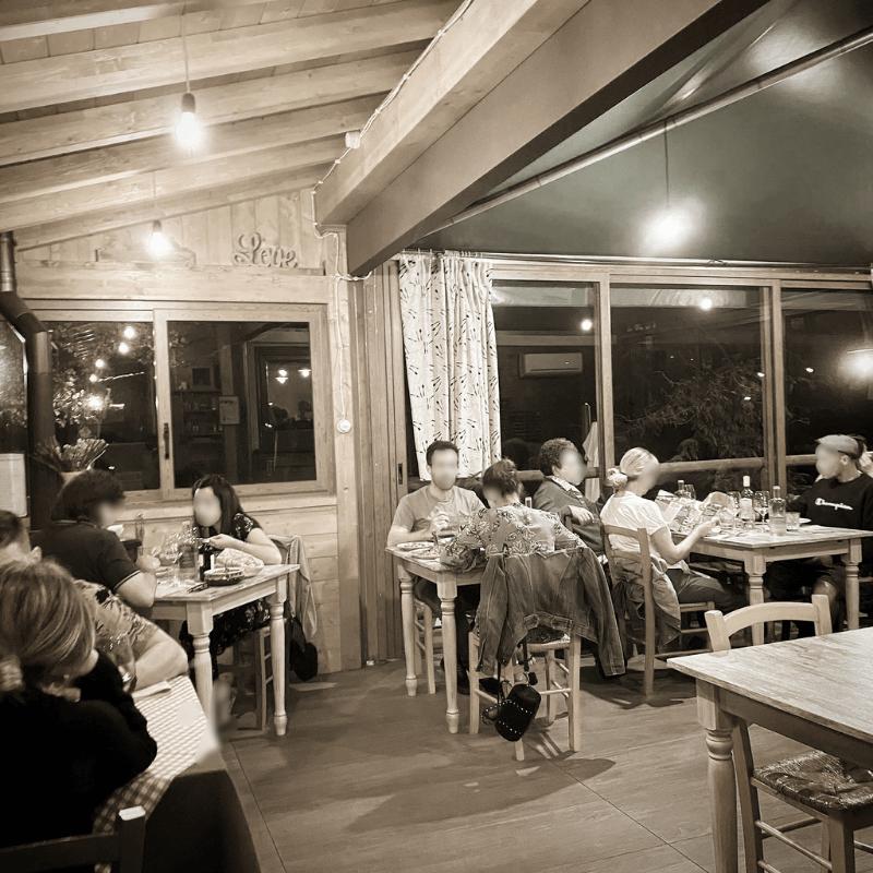 Il Chiosco nel bosco, Camaiore, Mangiare a manovella