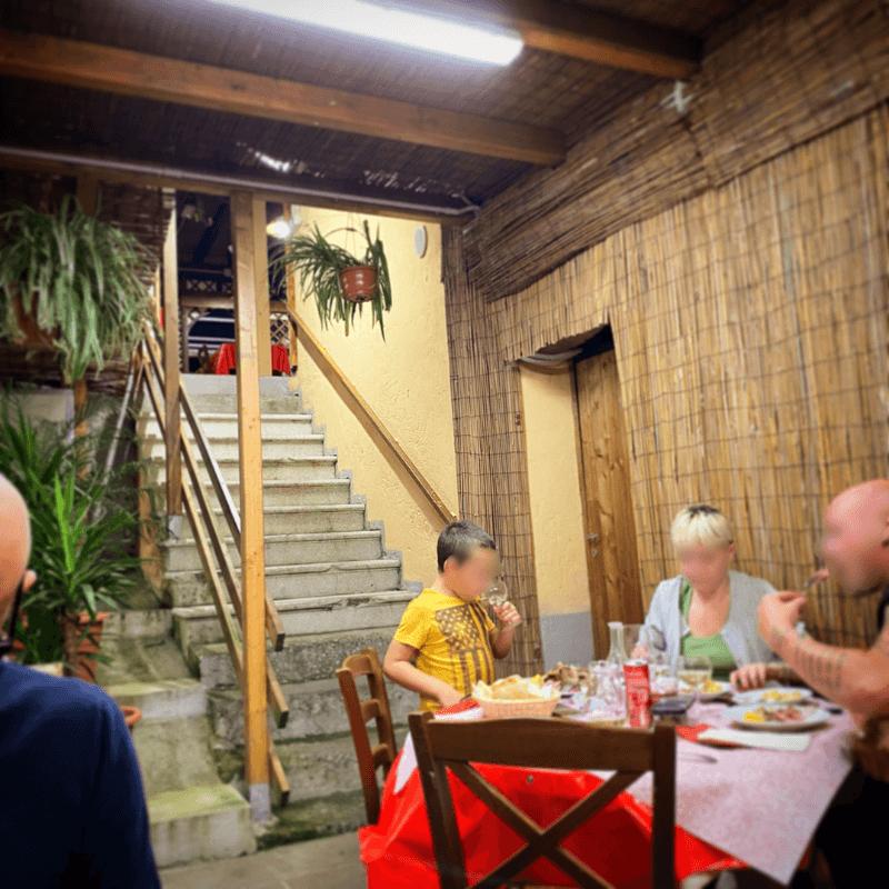 Osteria il Botteghino del Malcontenti, Mangiare a manovella, Lucca
